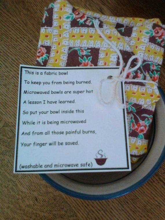 microwave fabric bowl hotpad etsy