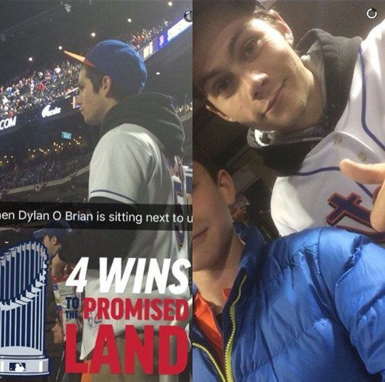 Dylan O'Brien attended the NY Mets game - They spelled his name wrong but damn they're so lucky