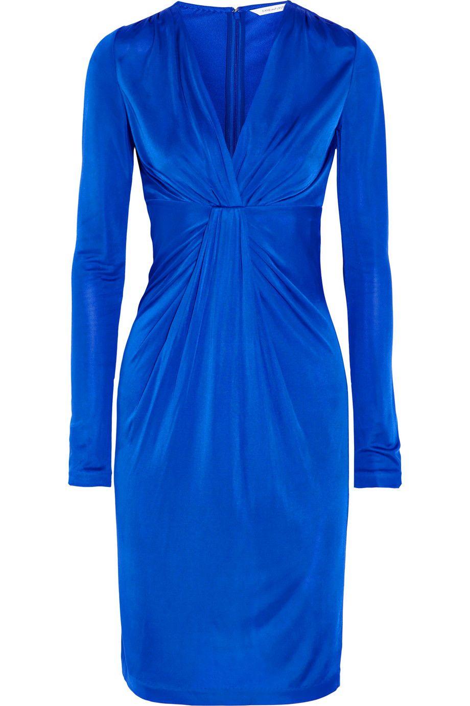 DIANE VON FURSTENBERG Wrap-Effect Satin-Jersey Dress. #dianevonfurstenberg #cloth #dress