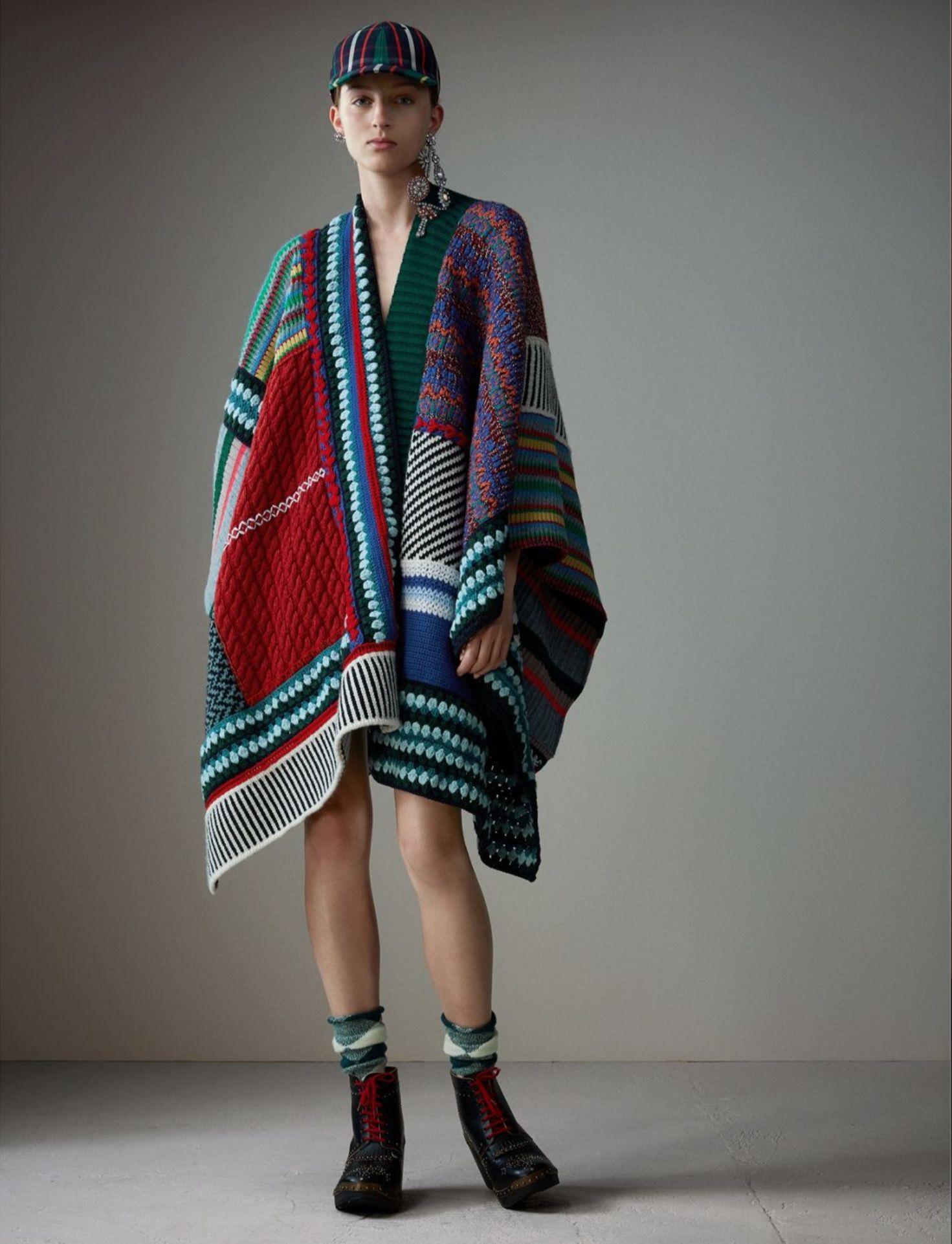 Ponchos Moda Ponchosknitted Wear Pinterest Knitting
