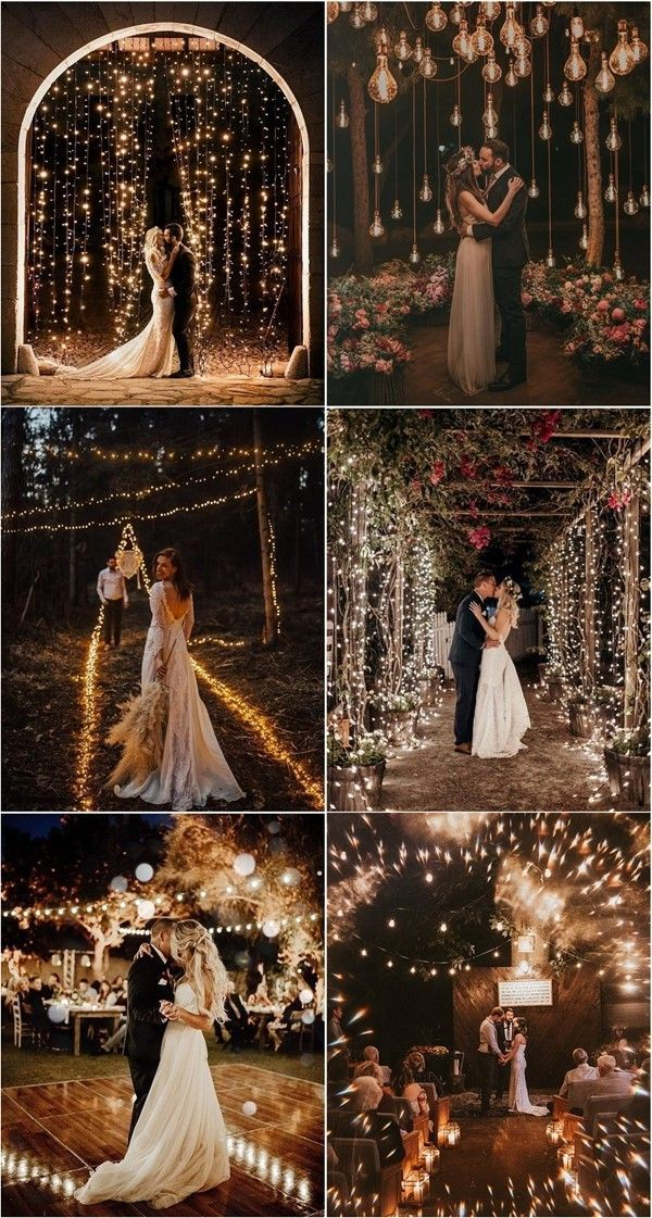 30 Romantic Night Wedding Photo Ideas