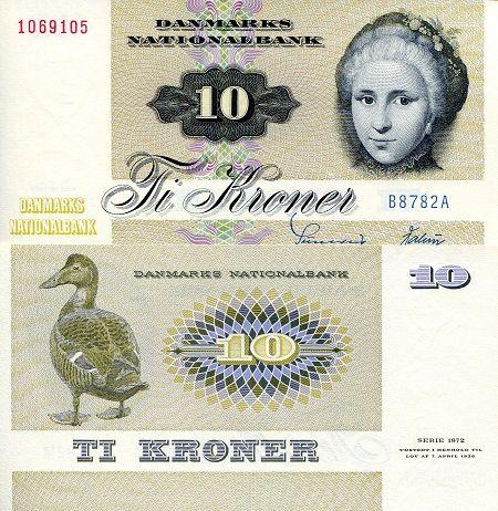 Denmark 10 Kroner Unc Banknote Barndom Pengesedler Barndomsminder