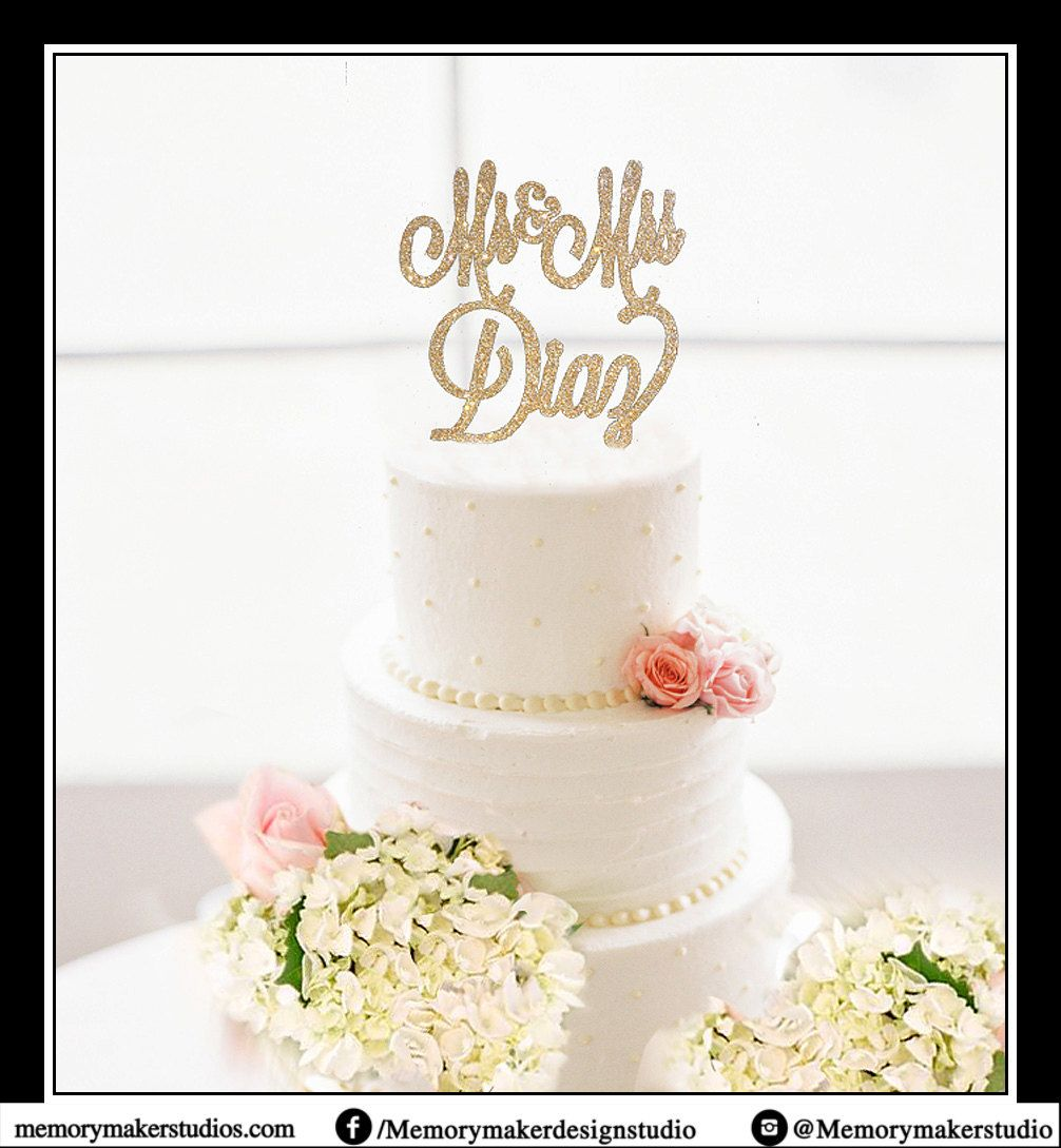Custom Mr & Mrs Cake Topper Mr and Mrs Cake Topper Wedding Cake ...