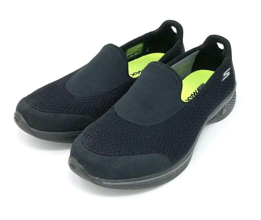 Skechers GO WALK Womens 10 Extra Wide 10EW Black Leather