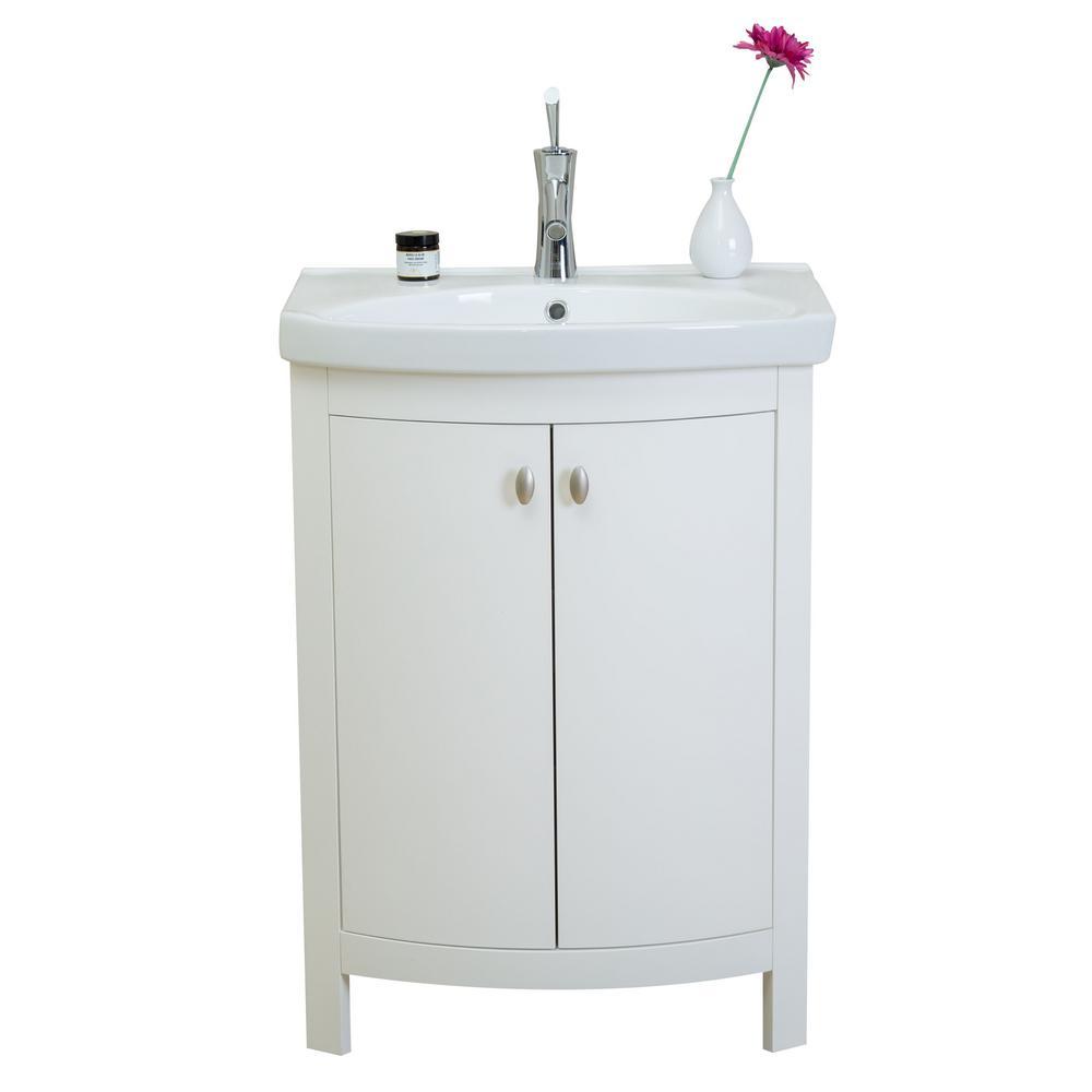 Eviva Jersey 24 50 In W X 19 In D X 3 50 In H Vanity In White