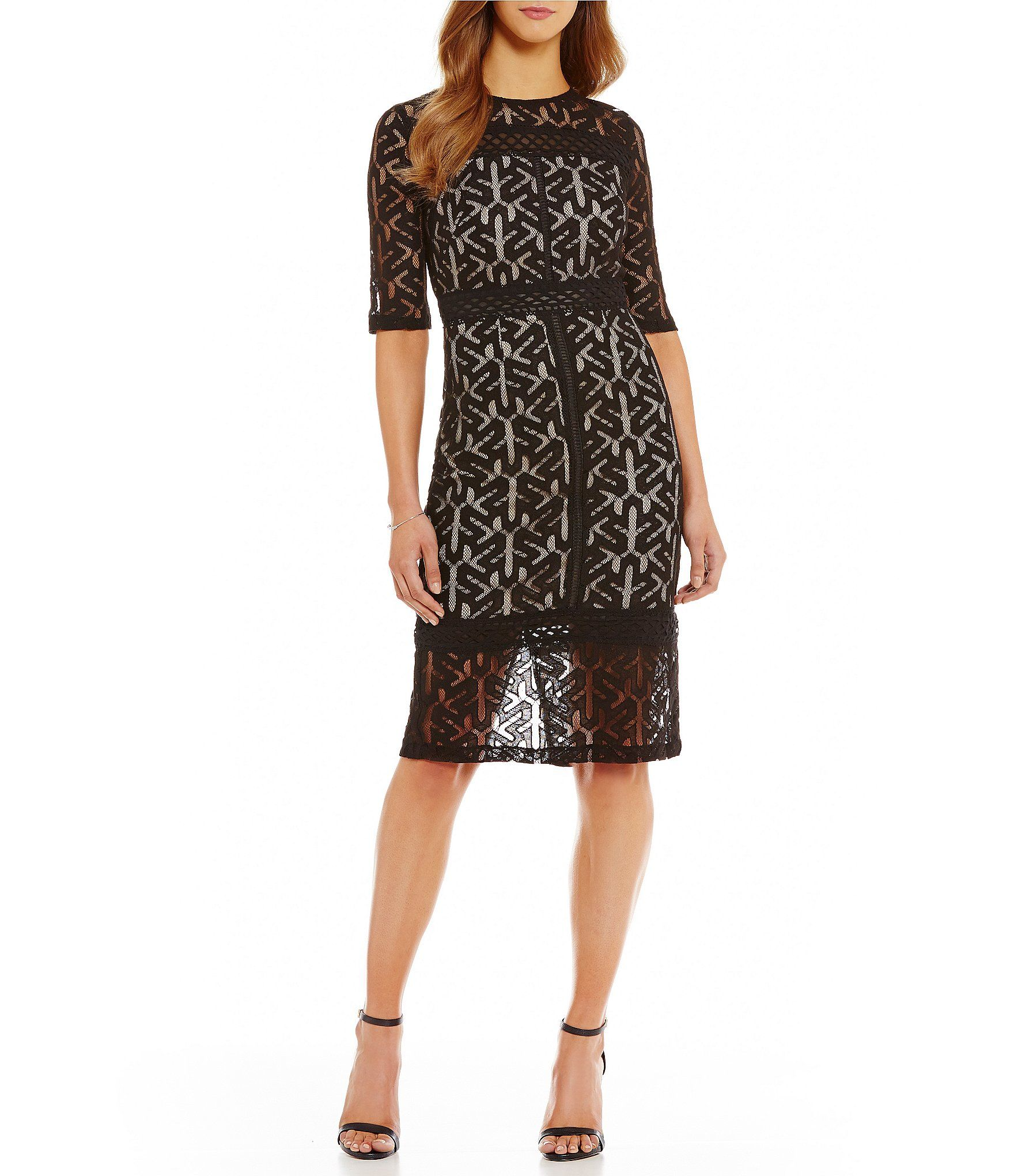 Jax illusion midi sheath dress dillards babybabybaby jax illusion midi sheath dress dillards ombrellifo Gallery