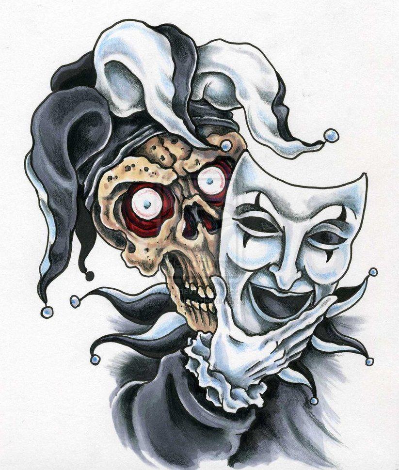 Tattoo Ideas Jester: Court Jester Tattoos Design 2023 823x970 Pixel