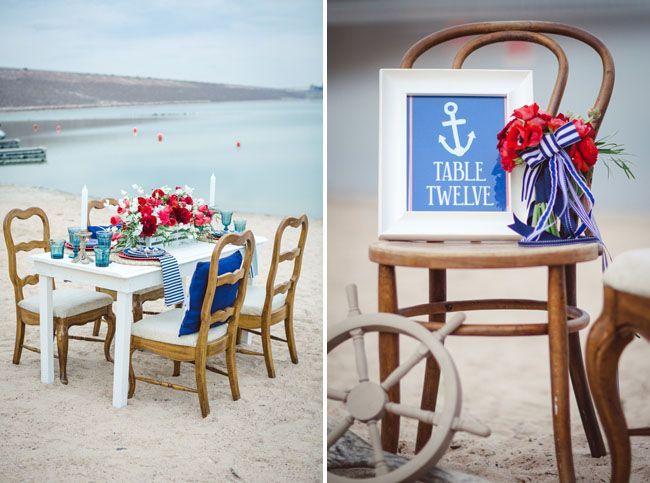 Color Me Blue Nautical Themed Beach Wedding Beach Wedding Tips
