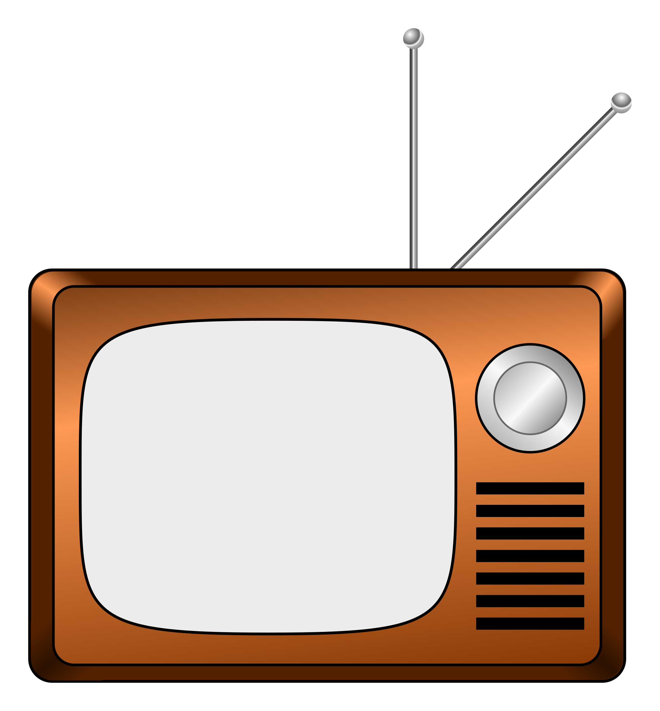 Old Television PNG Image First tv, Clip art, Television