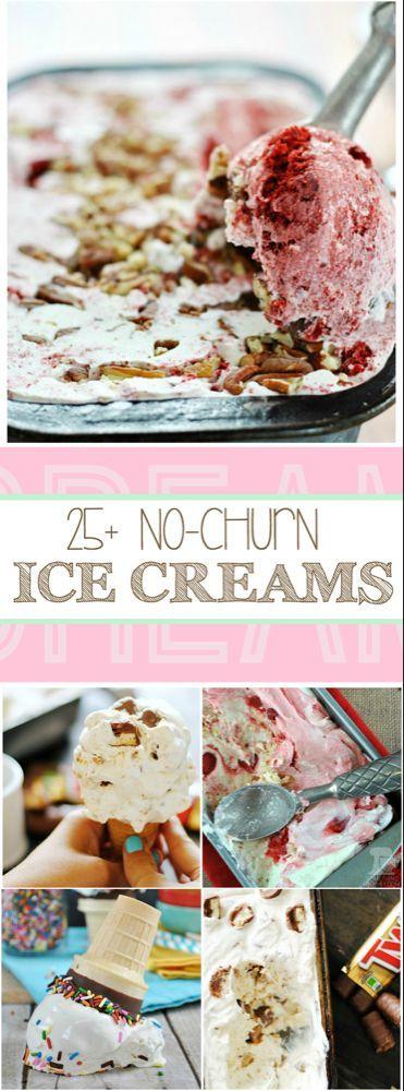 25 No Churn Ice Cream Recipes  Etwas Schickes  Ice cream
