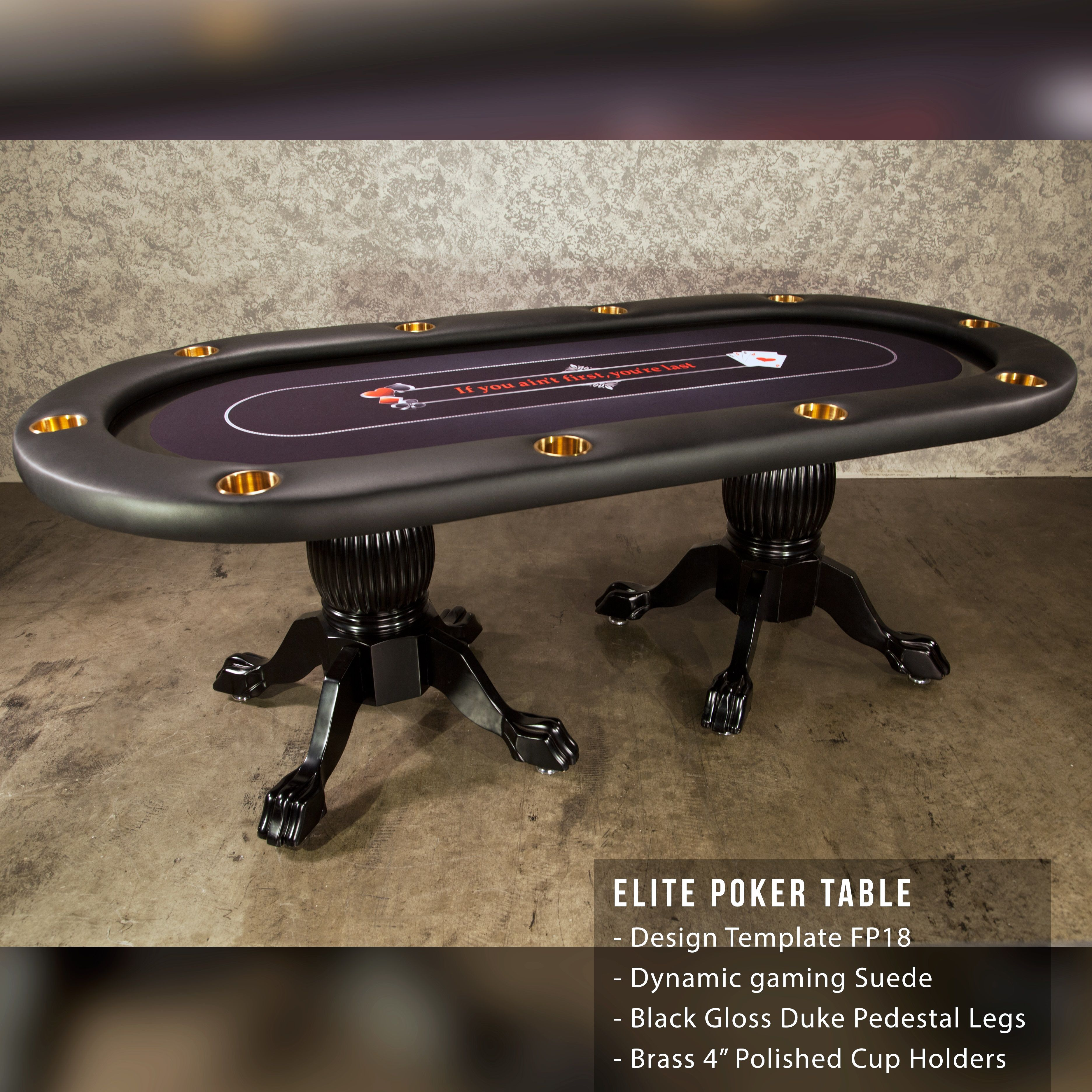The Elite Poker Table Is Great If You Re Looking For Traditional Look In Your Poker Or Game Room Bbo Poker Tables Lets Poker Table Custom Poker Tables Poker
