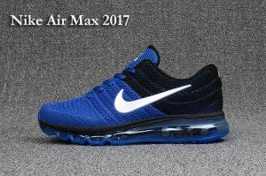 New Style Nike Air Max 2017 KPU Game Royal Blue Black White 849559 006 Men's Running Shoes Sneakers
