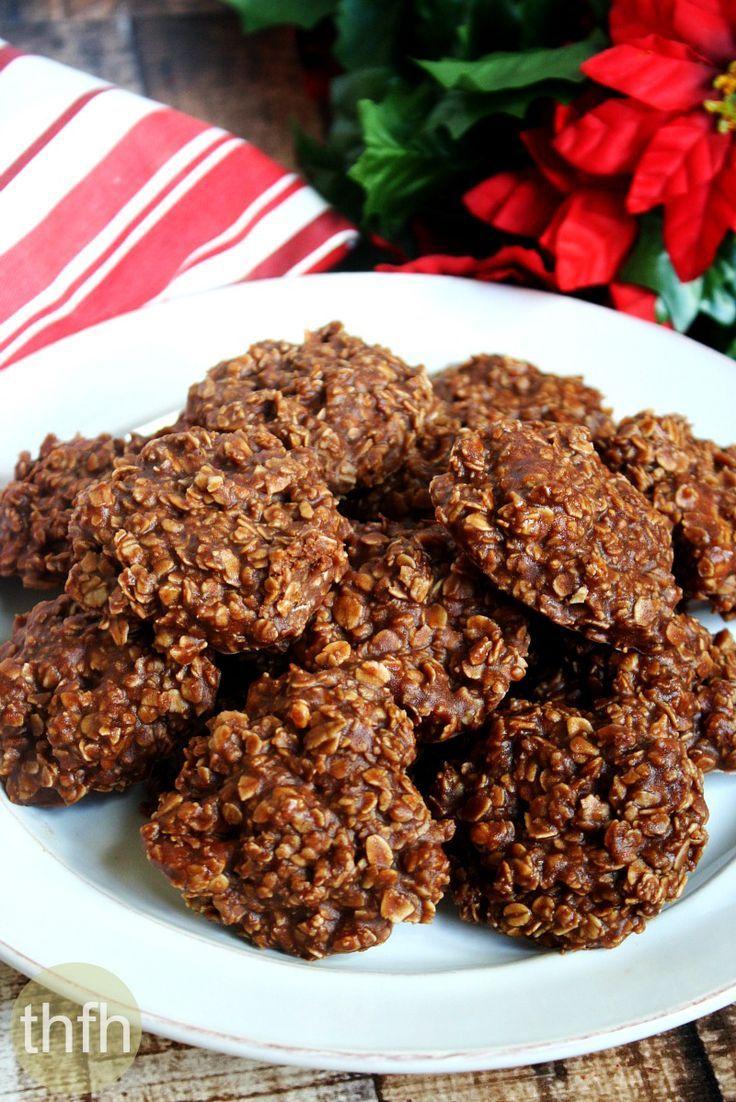 Original Healthy Vegan No Bake Chocolate Peanut Butter Oat Cookies