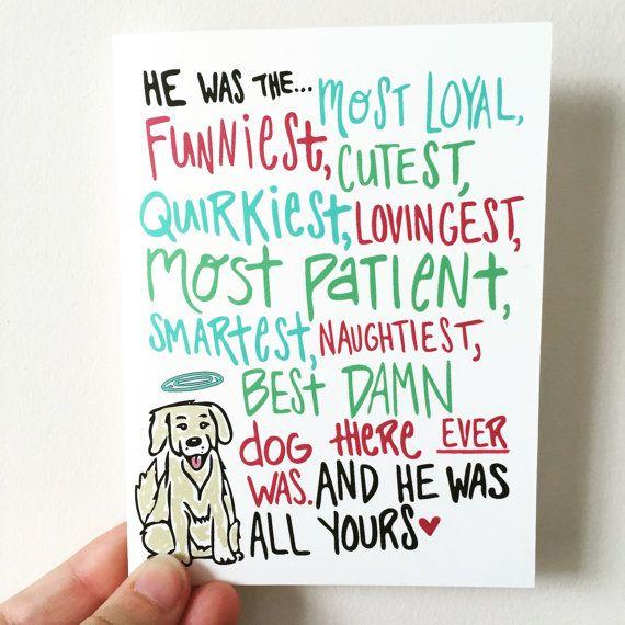 pet loss card lost pet card condolences card grieving card pet sympathy