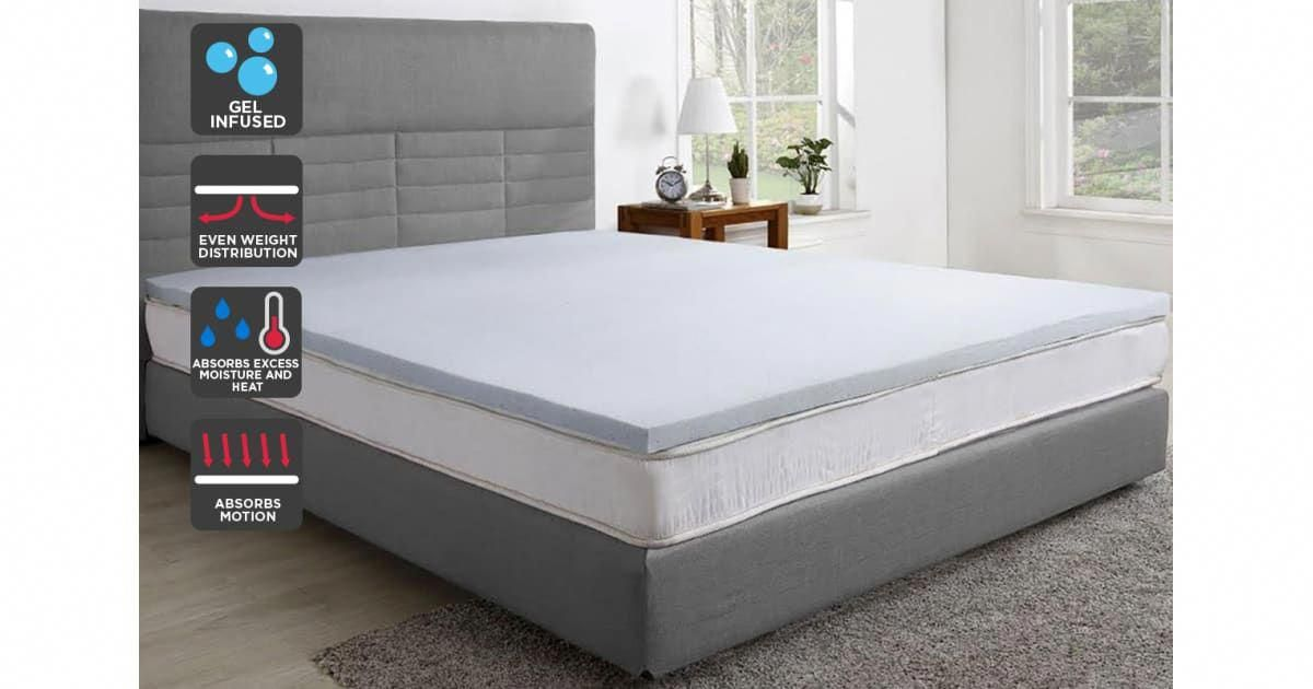 Buy Trafalgar Gel Infused Memory Foam Mattress Topper With Bamboo Cover Queen From Kogan Com Sleep That T Memory Foam Mattress Foam Mattress Mattress Topper