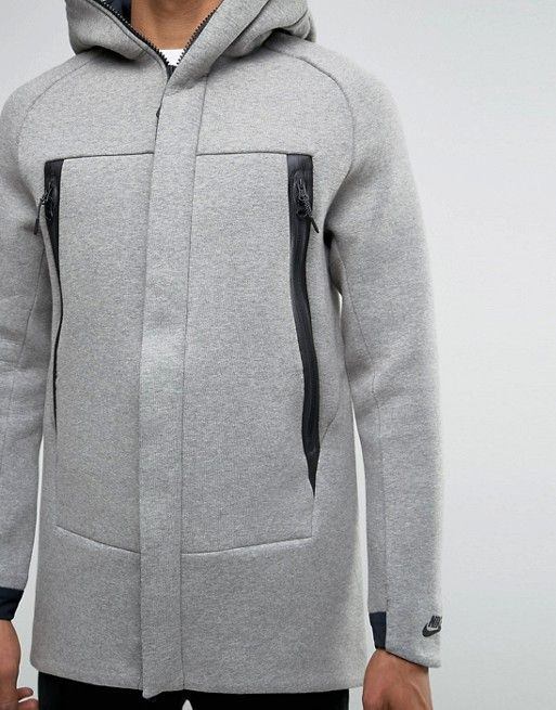 Nike | Nike Tech Fleece Longline Jacket With 3M Detail In Grey 805142-091