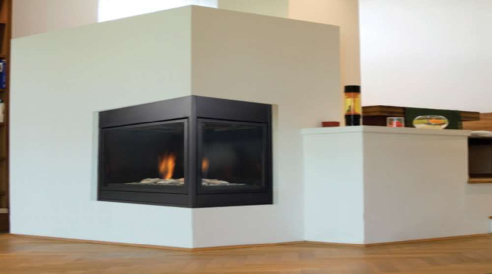 Modern Direct Vent Gas Corner Gas Fireplace Vented Gas