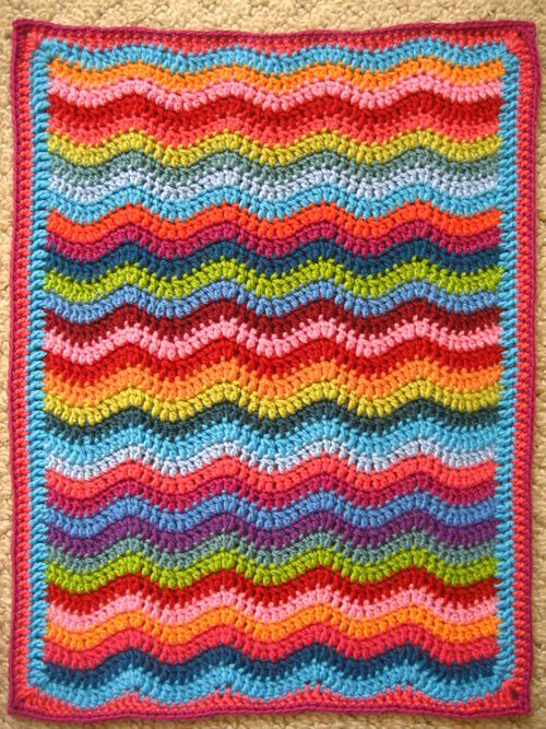 Mini Ripple Doll Blanket Ta Dah Crochet Ripple Pattern Attic 24 Crochet Crochet Ripple Blanket