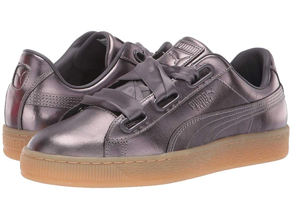 official photos bcdc3 1f06c PUMA Basket Heart Luxe Women's Lace up casual Shoes Quiet ...