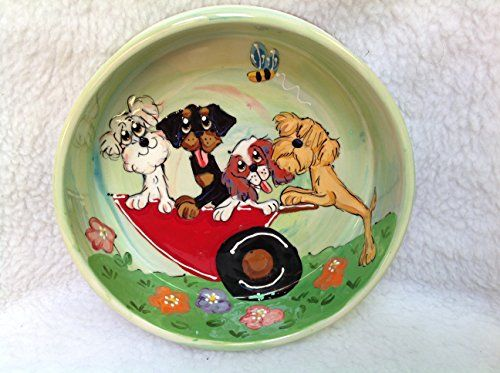 Maltese Puppy 6 Dog Bowl for Food or Water Personalized at