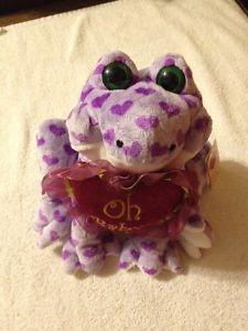 Stuffed Animal Purple Frog with Heart (New)