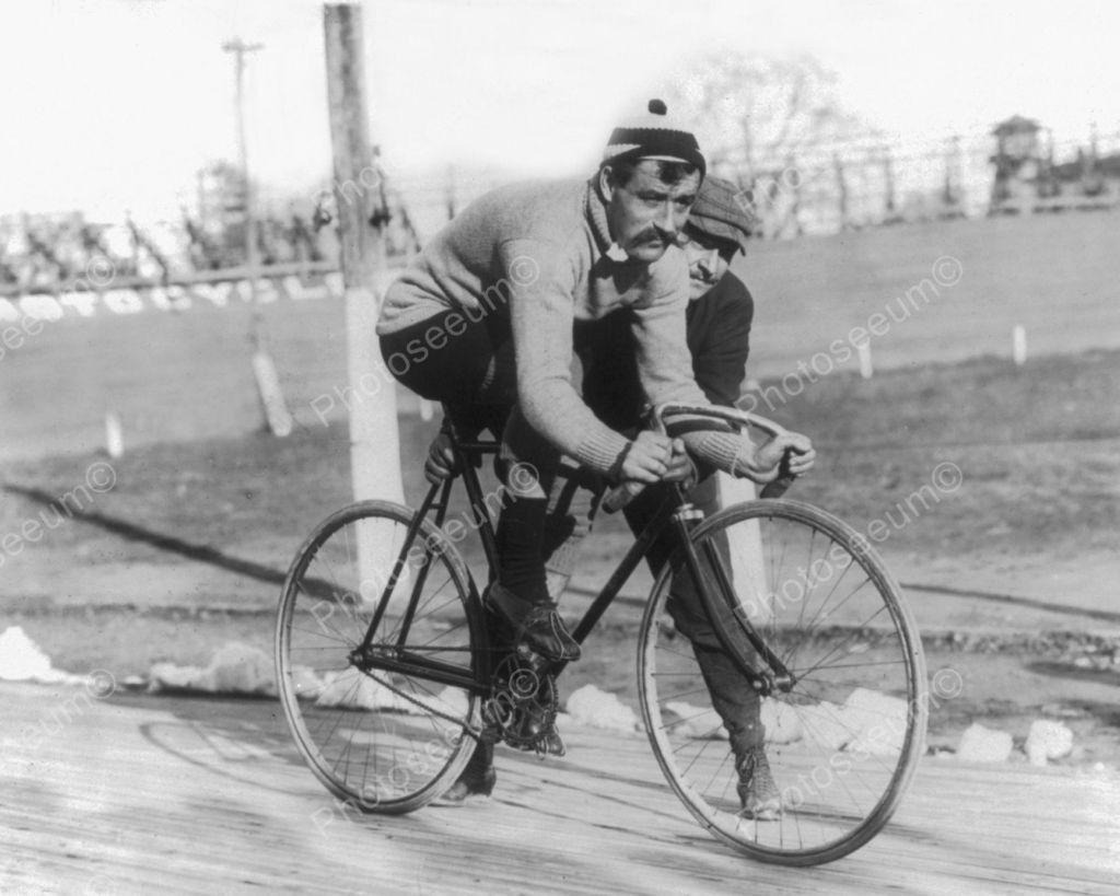 Bike Racer Vintage Bicycle 8x10 Reprint Of Old Photo Track Cycling Vintage Bicycles Track Bike