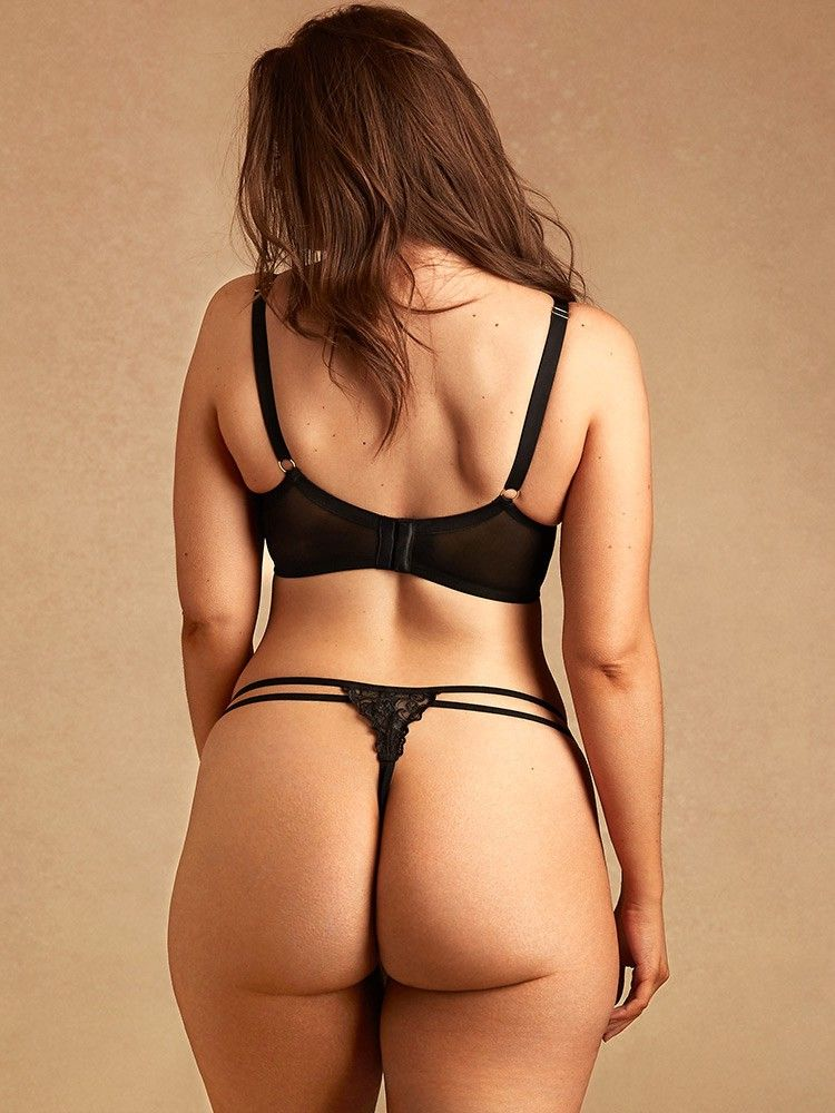 9d34633df98de Hips And Curves Tatiana Embroidered Crotchless G-String - Medium Large