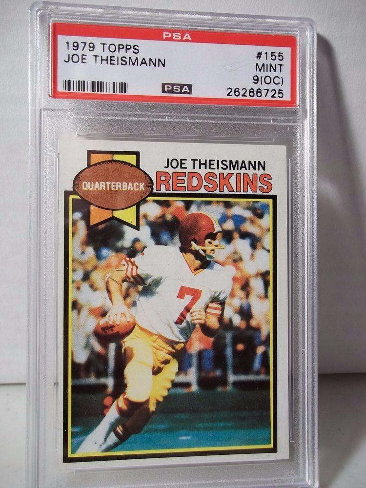 1979 Topps Joe Theismann PSA Mint 9(OC) Football Card 155