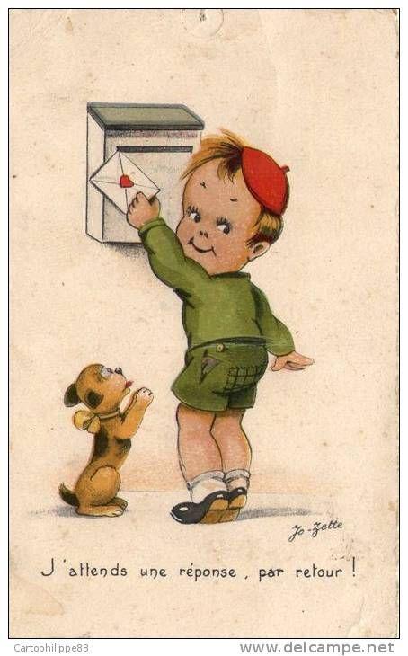 Dessin Humoristique Chien illustrateur jo-zette enfant dessin humoristique courrier enfant