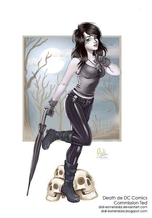 نتیجه تصویری برای death dc fanart Pinterest
