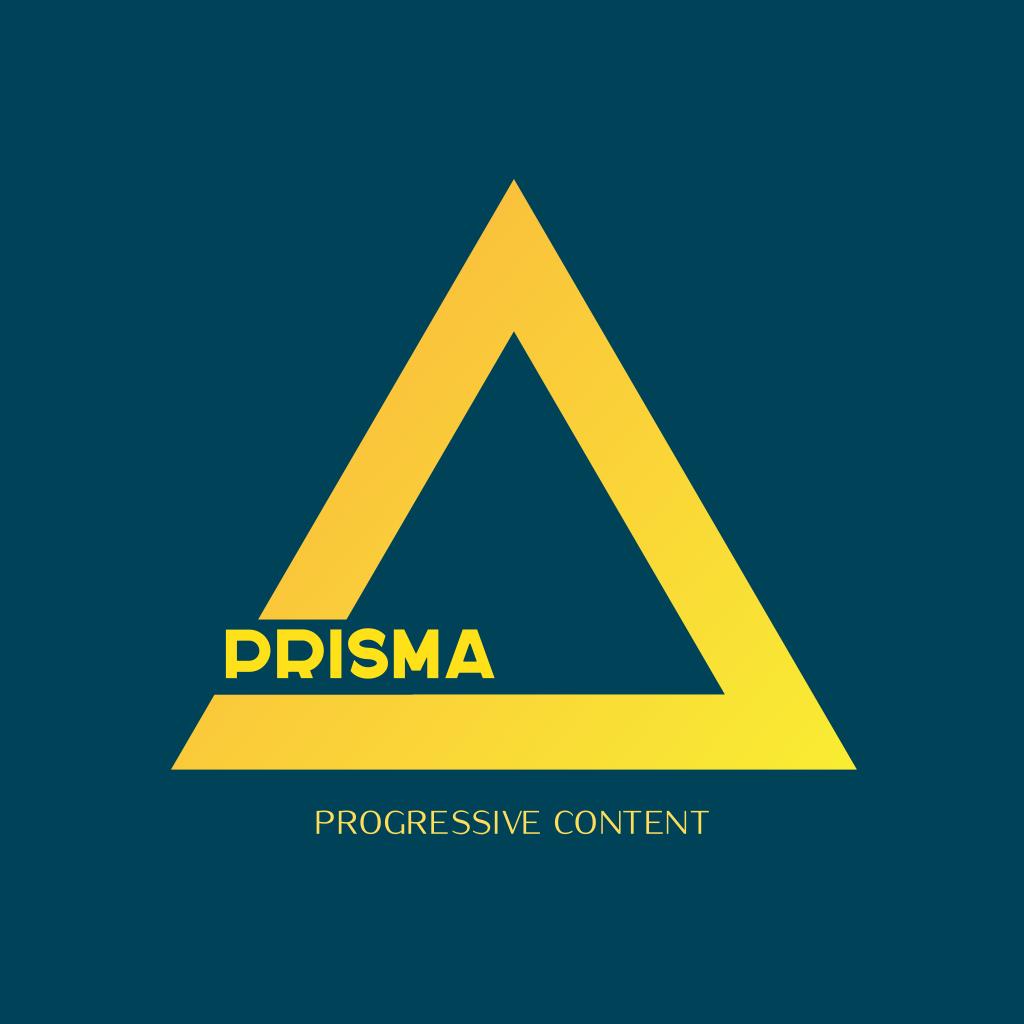 Prisma Progressive Content Logo Triangle Logo Logo Design Abstract Logo