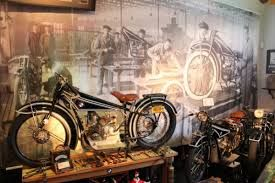 Image result for vintage motorcycle factory wall mural artwork