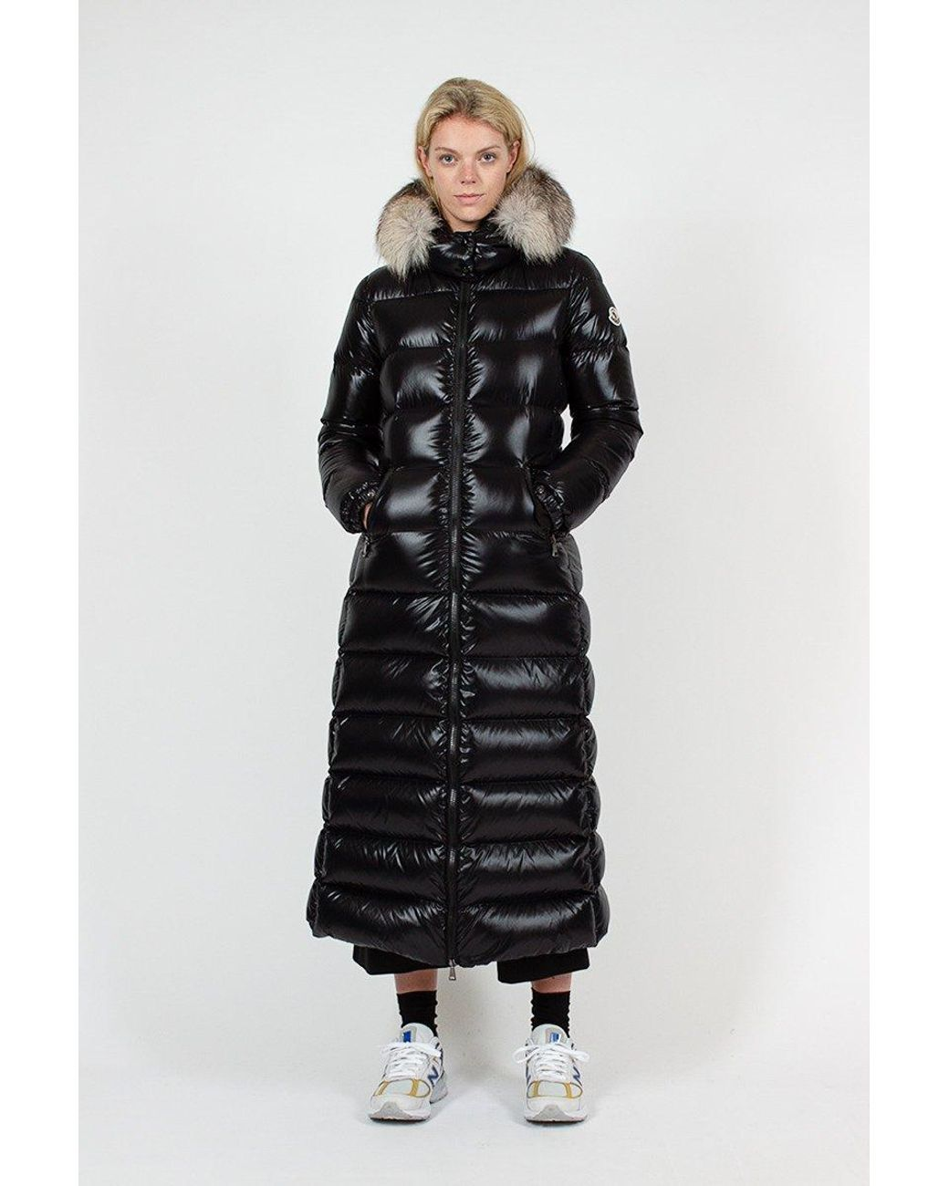 Moncler Goose Black Hudson Jacket Lyst Moncler Jacket Women Puffer Jacket Women Jackets [ 1300 x 1040 Pixel ]