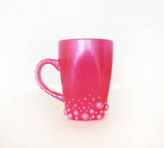 Coffee Diva Hot Pink Pearls Rhinestones Just Bought It Perfect For Morning With My Love