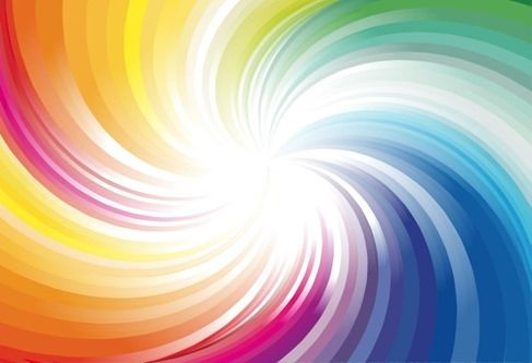 Abstract Rainbow Colors Wave Background Vector Illustration
