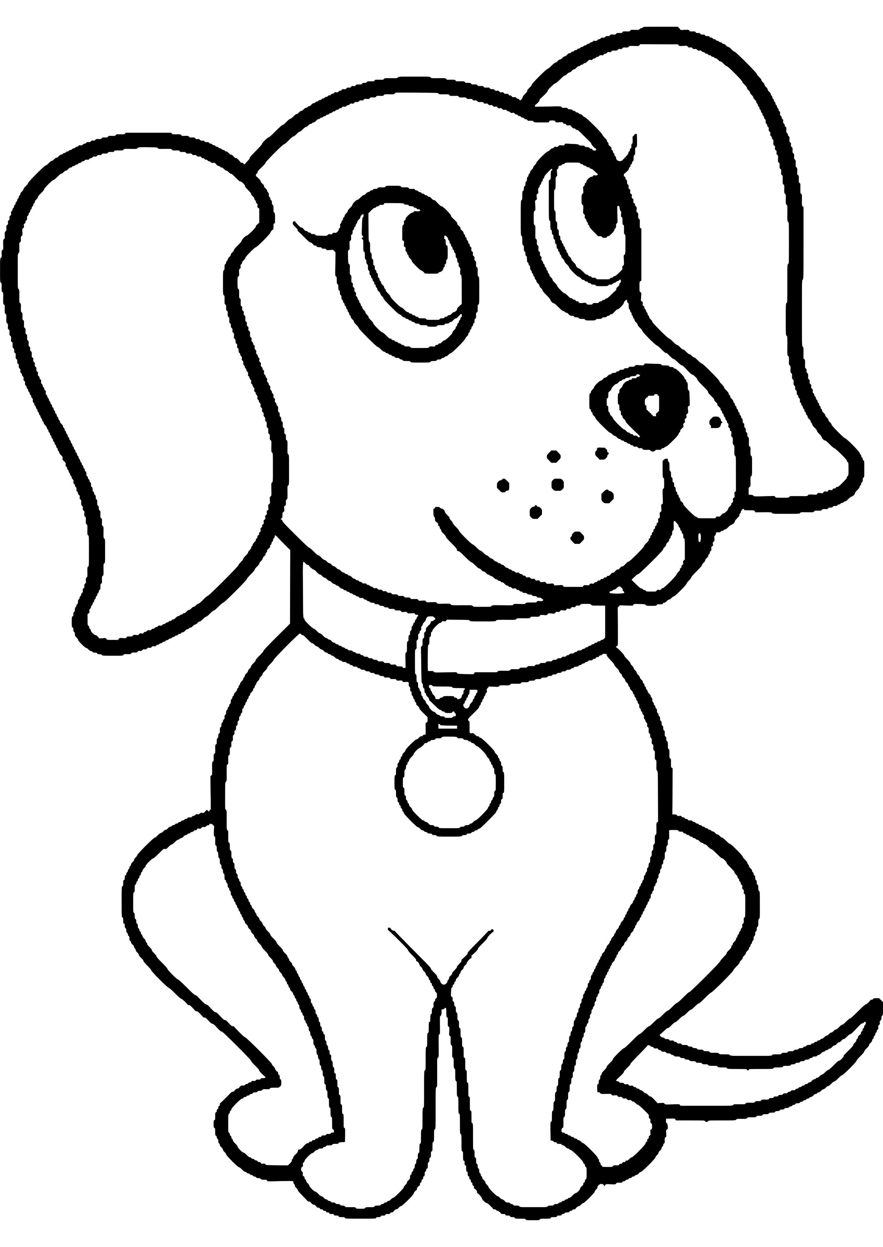 disegni cani da stampare stampae colorare