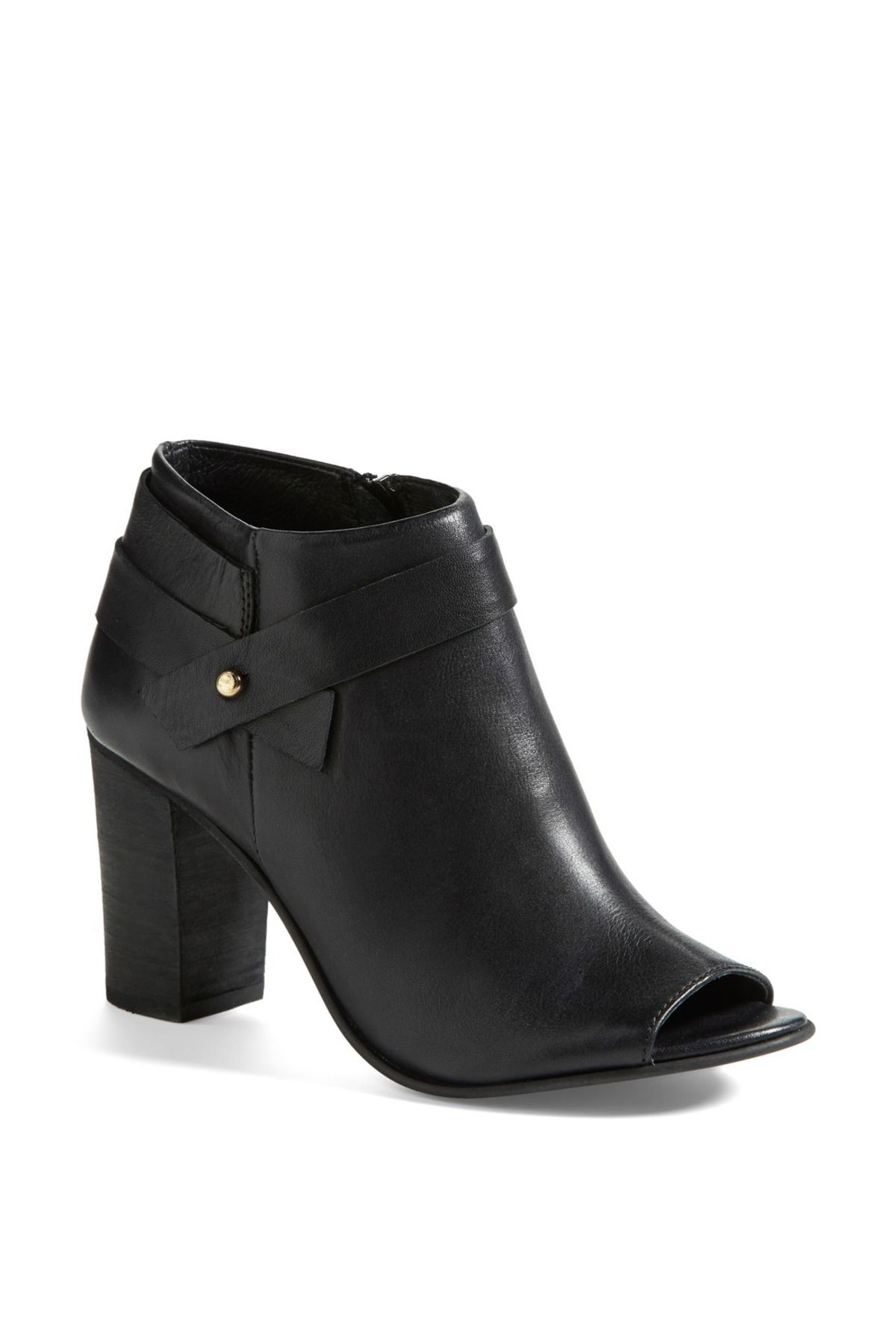 Another option for office footwear: Steve Madden 'Now' Open Toe Bootie (Women) by Steve Madden on @nordstrom_rack