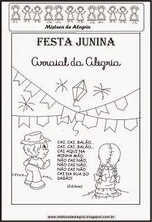 Mistura De Alegria Festa Junina Imprimir Colorir Atividades