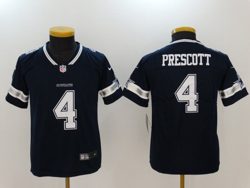 Nike Cowboys 4 Dak Prescott Navy Vapor Untouchable Youth Limited Jersey 1440358c4