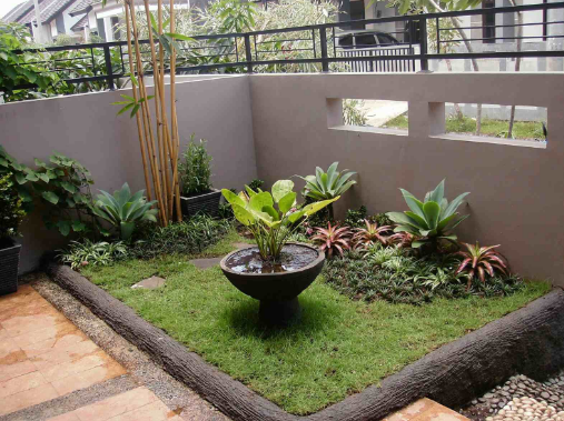 Desain Taman Depan Rumah Mungil Minimalis Cantik Dan Mewah