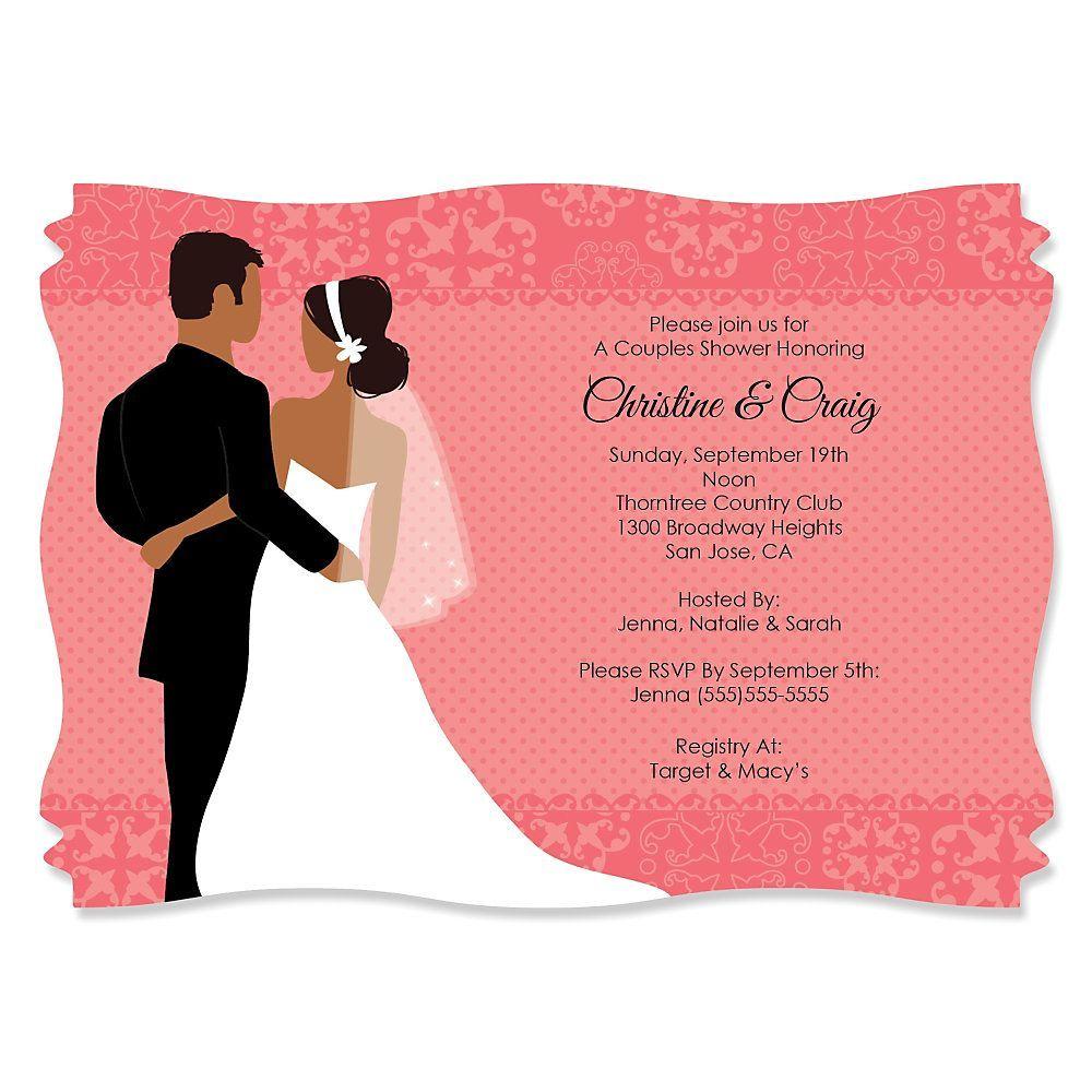 free printable couples wedding shower invitations ...