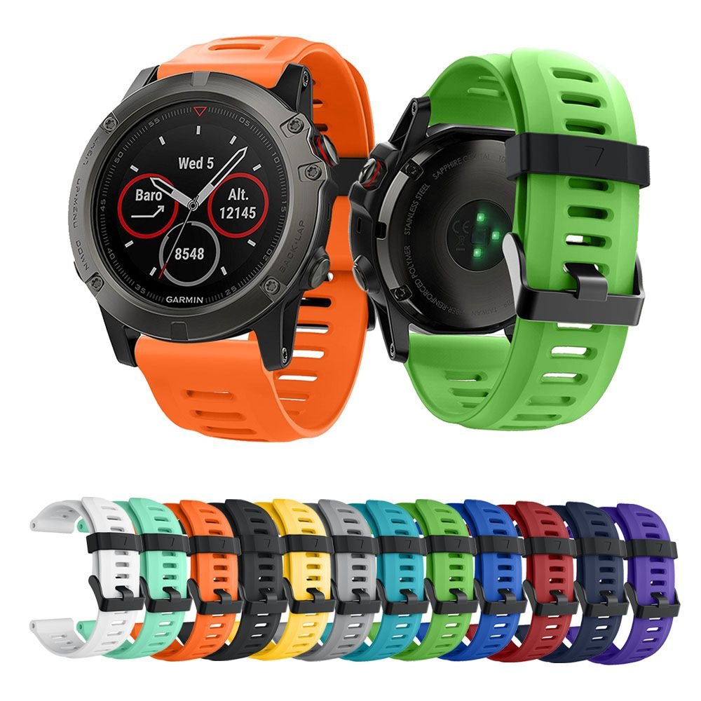 14colors Soft Silicone Replacement Watch Band for Garmin