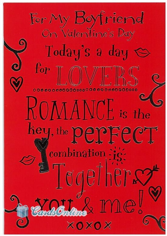 530 To My Boyfriend on Valentines Day Front of Card features – Valentines Card for My Boyfriend