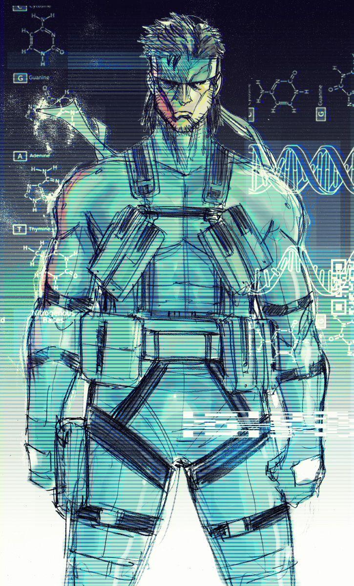 Solid Snake | 《Metal Gear Solid》 | Pinterest | Videojuegos, Juego ...