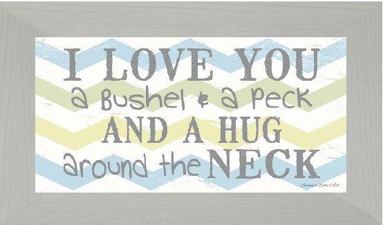 Download I Love you a bushel and a peck chevron Boys Decor Art ...