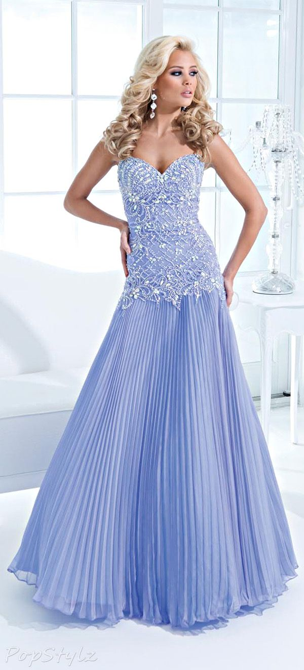 Tony Bowls Pleated Periwinkle Evening Gown | Tony Bowls | Pinterest ...
