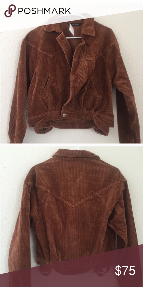 Brandy Melville brown esabelle corduroy jacket NWT Brandy Melville Jackets & Coats