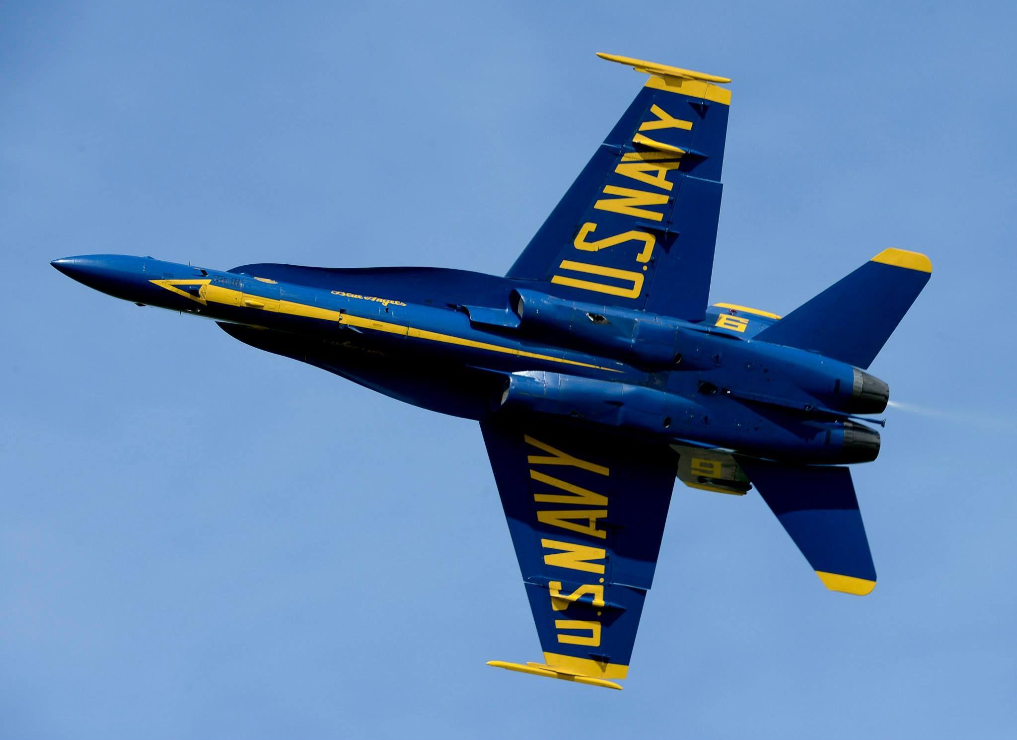 Opposing Solo Pilot LT. Mark Tedrow of the U.S. Navy Blue