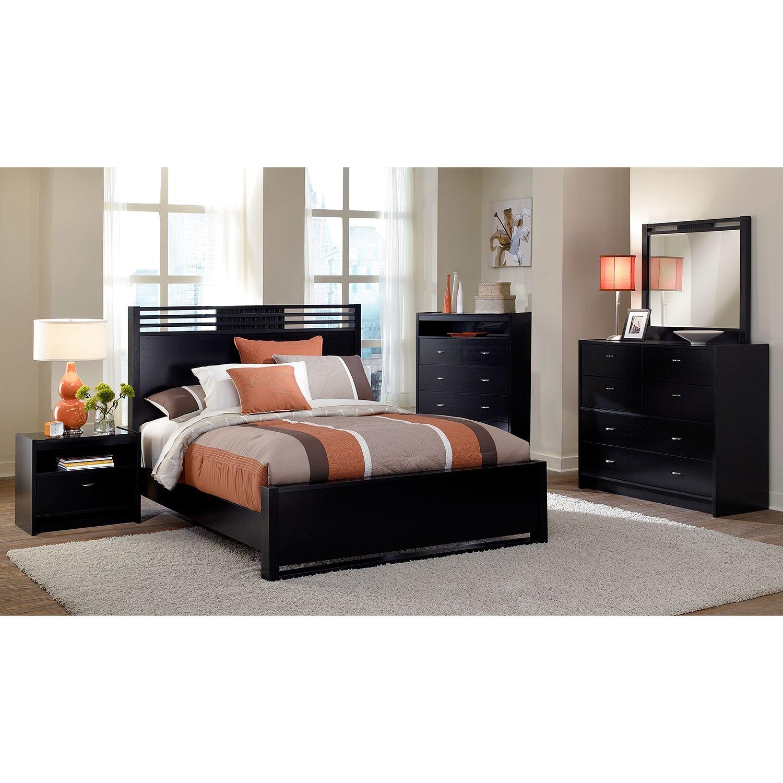 Bally Espresso Queen Bed | American Signature Furniture