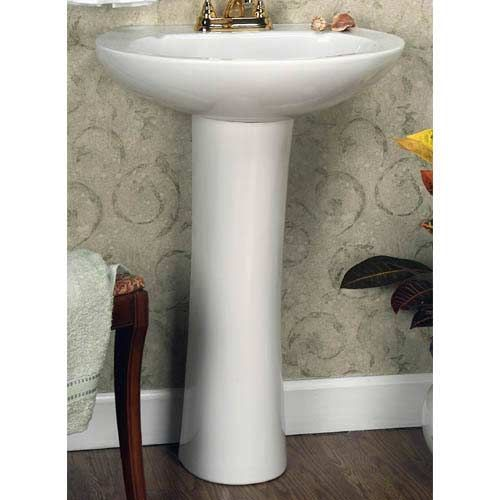 Barclay Products Hampshire White 4 Inch Spread Pedestal Sink